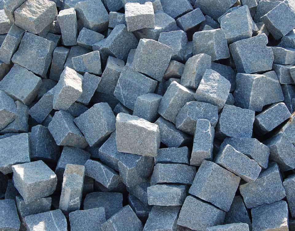 Pflasterplatten, Granit, grau