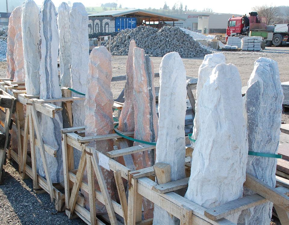 Monolithen Marmor, versch. Farben