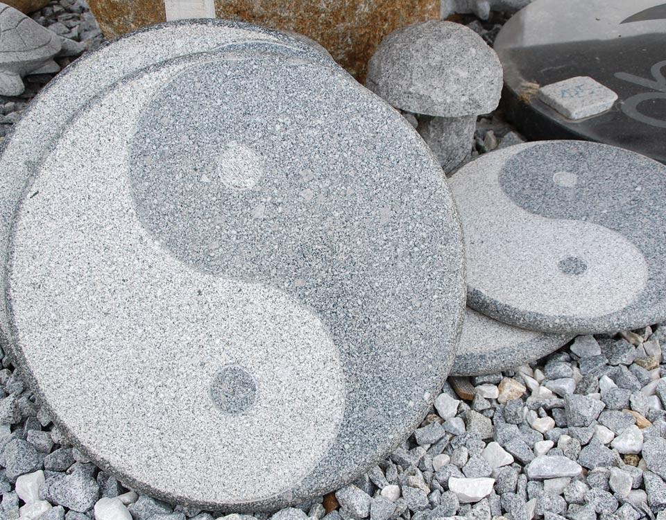 Trittstein, YingYang, Granit