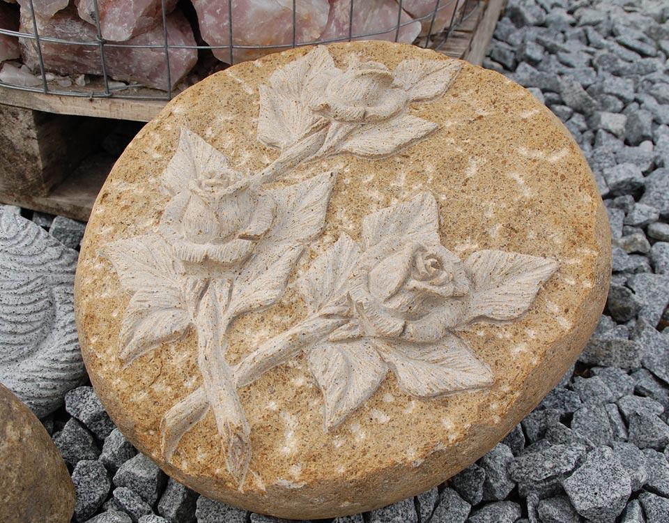 Zierstein, Rose, Granit