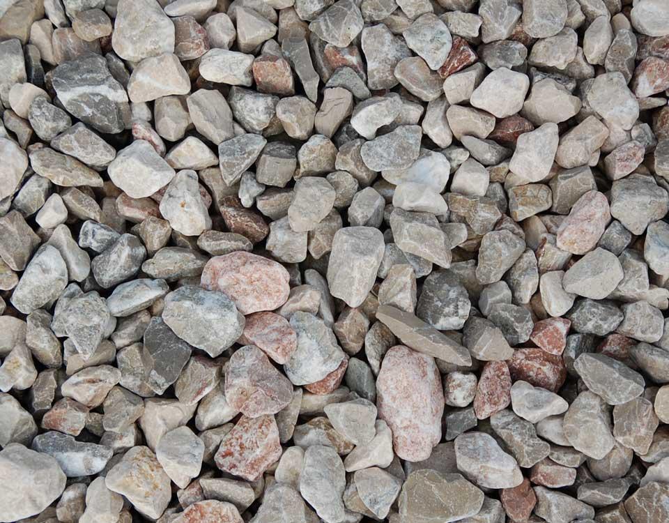 Zierkies, Kalkstein, rosso, getrommelt