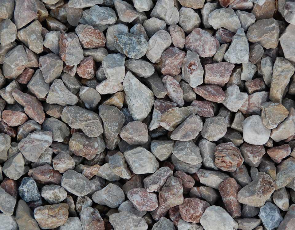 Zierkies, Kalkstein, rosso, gebrochen