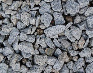 Zierkies, Granit, getrommelt