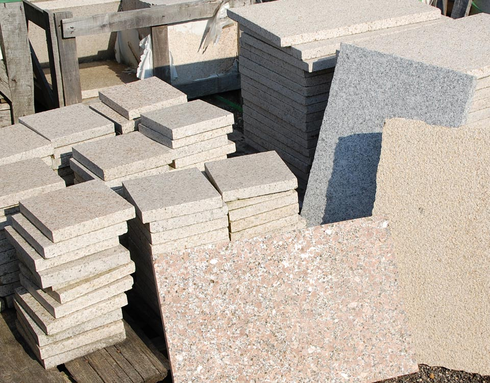 Platten, versch. Granite
