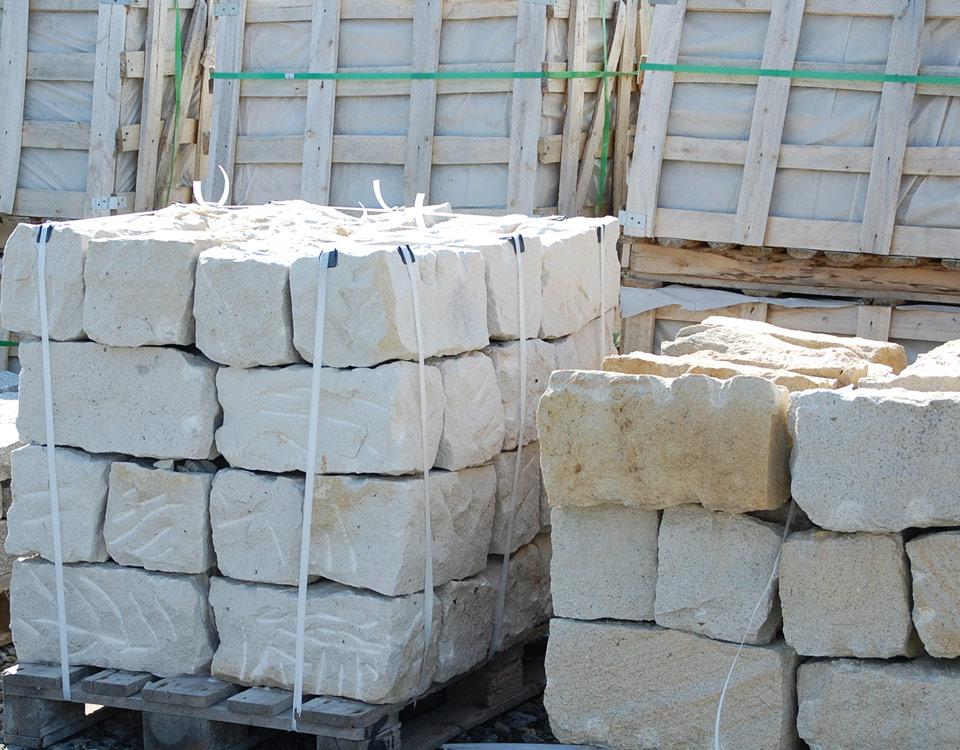 Mauerstein, Sandstein, maschinengespalten
