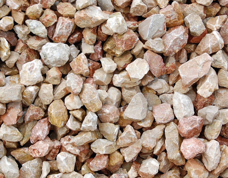 Zierkies, Kalkstein rosso, gebrochen