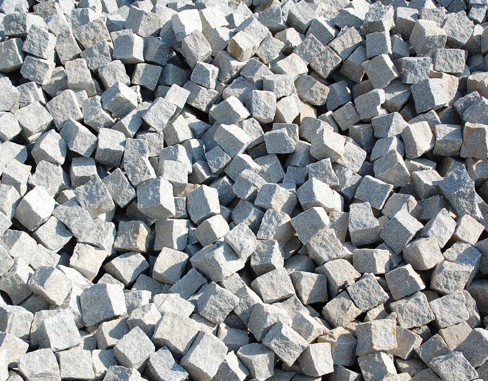 Pflastersteine, Granit