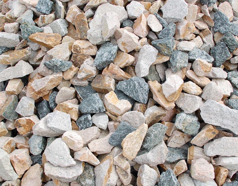 Gabionenfüllung, Granit, rot/schwarz