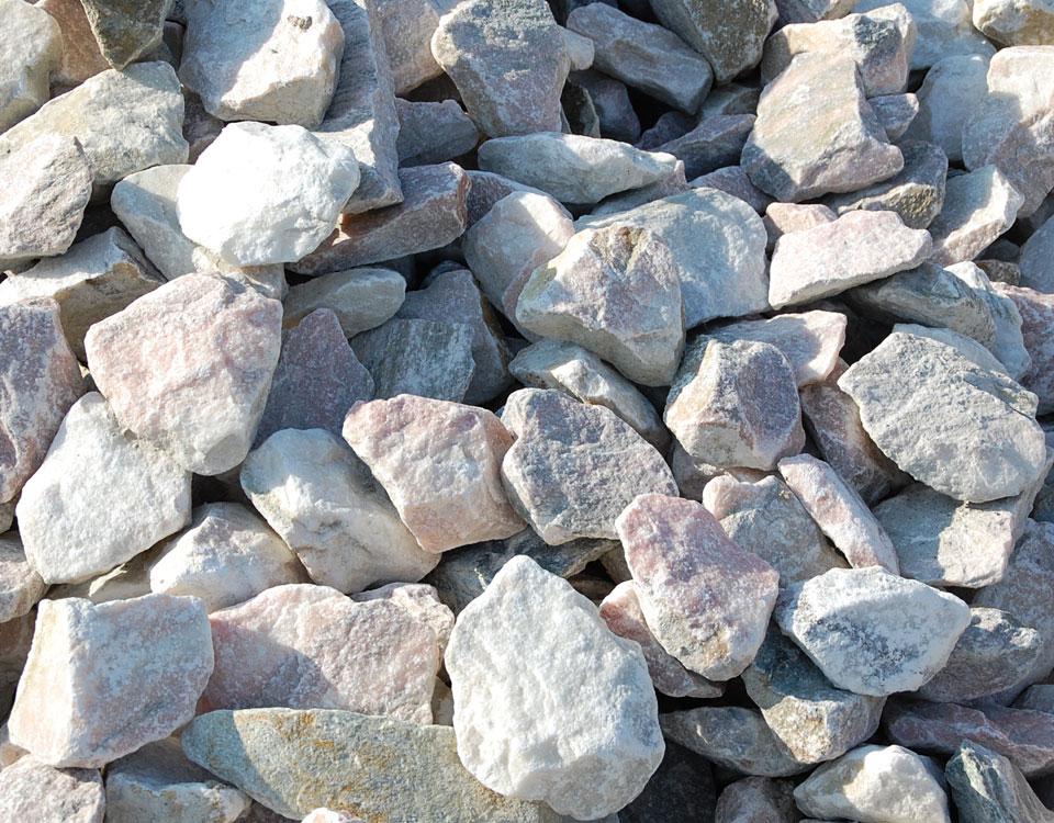 Zierkies, Sölker Marmor, gebrochen