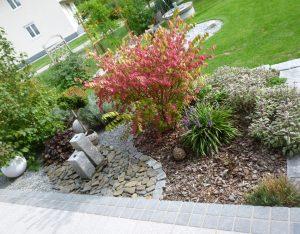 Ciottoli Granit dunkelgrau, Zierkies Schiefer