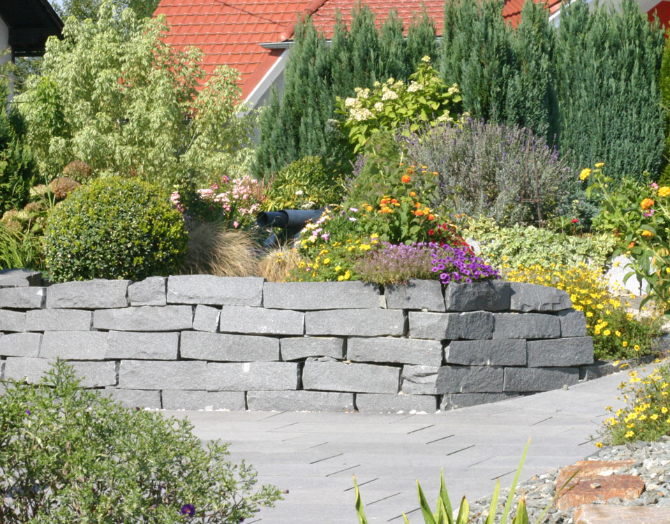 Mauersteine Granit