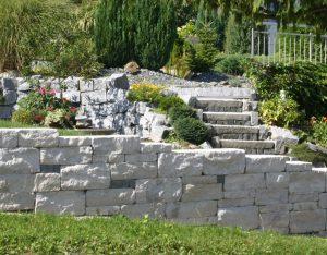 Mauersteine Kalkstein, Römischer Verband