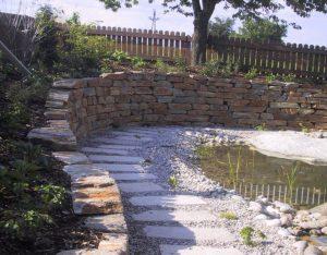 Mauersteine Stainzer Hartgneis, Granitplatten