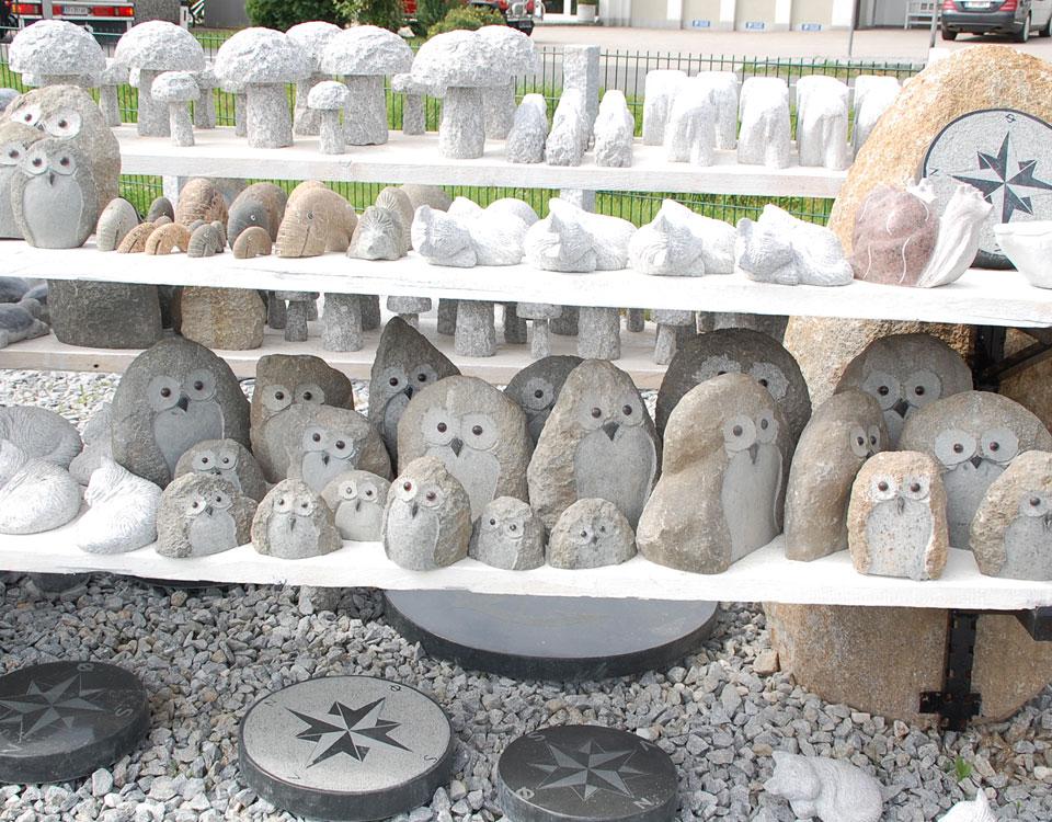 versch. Steinfiguren