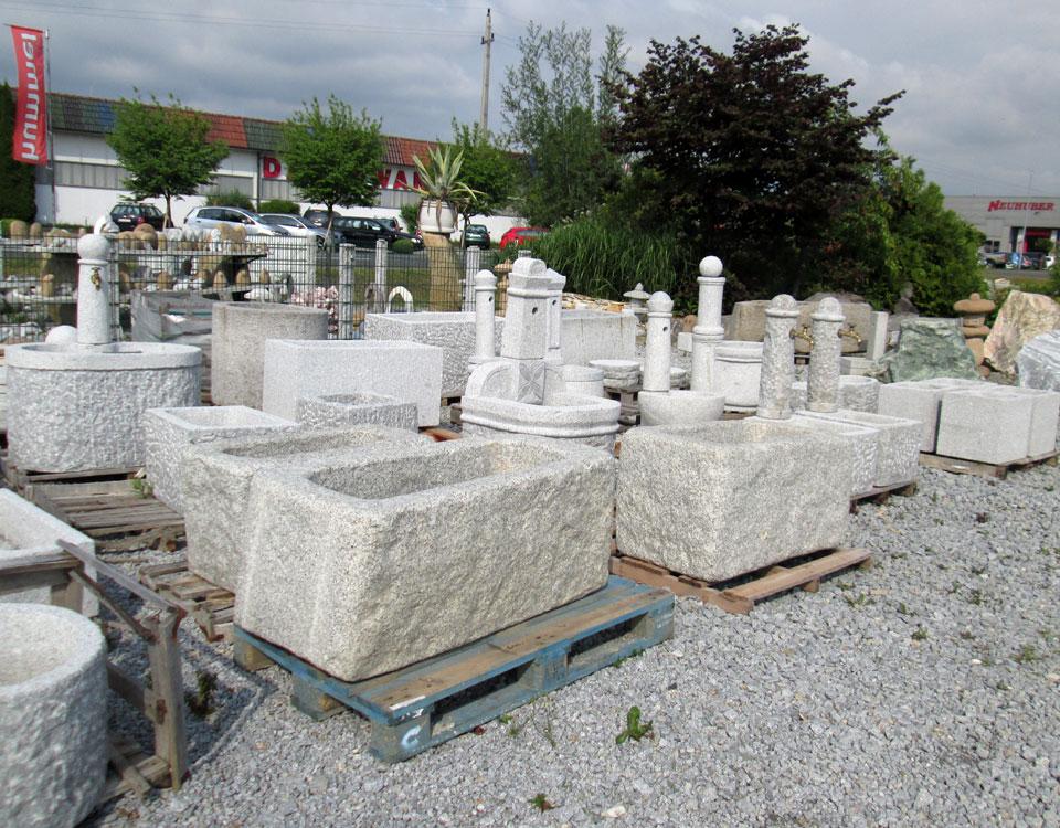 Brunnen und Tröge, Granit