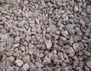 Zierkies, Granit, rot
