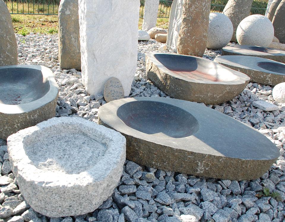 Vogeltränken, Basalt und Granit
