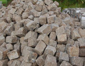 Pflastersteine, Granit, gebraucht